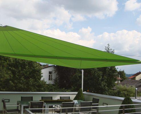 Sonnensegel in Grün von Mühlböck - Freude am Wohnen