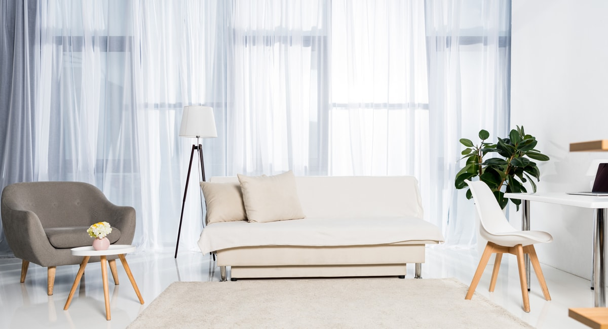 Vorhänge in Weiß